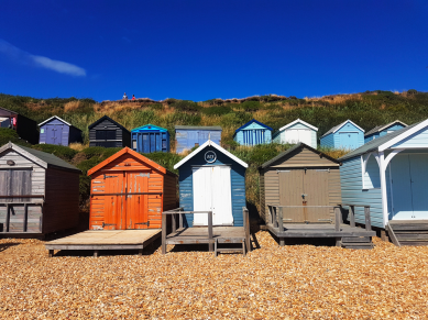 Private Beach Huts, Milford-on-Sea beach