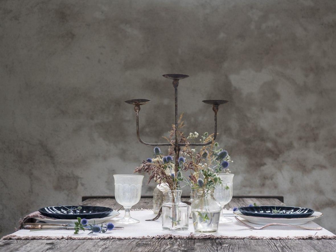 Raw Chic Table Setting @villa61 - Maison de Campagne