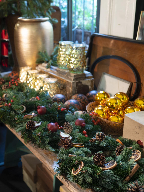 Ghirlanda di Natale (centrotavola) realizzata al workshop di @offfimilano